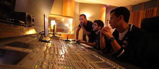 Nicolas Cailloux en studio